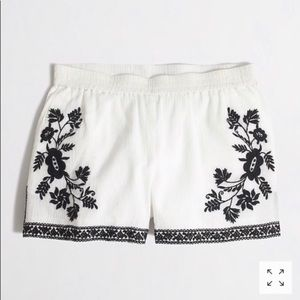 J. Crew Shorts - J.Crew black and white embroidered shorts